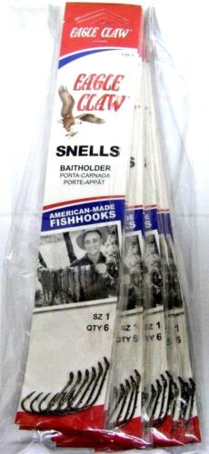 Eagle Claw Snelled Fish Hooks Original Baitholder 139