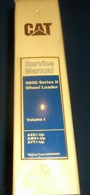 Cat Caterpillar 980g Series Ii Wheel Loader Repair Service Manual I Ayt Axg Awh