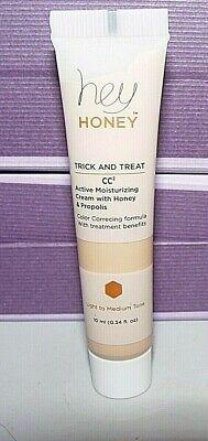 HEY HONEY Trick & Treat CC² Cream Light to Medium .34 oz Sealed