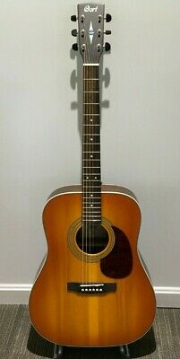 Cort Earth70 LVBS Acoustic 6-String Guitar w/ Carry Case