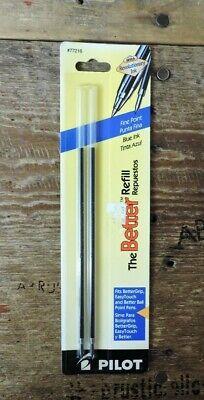 New 2 Pc 42083 Blue Bold 1.0mm Uni-ball Ballpoint Pen Ink Refill Power Tank Rt