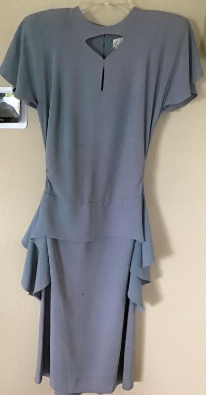 "Vintage 1930s - 40s ""Eisenberg & Sons Original"" Dusty Blue Dress"