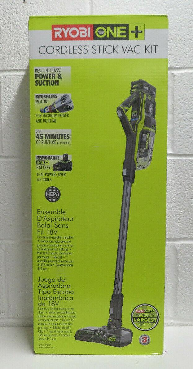 Ryobi P7181K 18V One+ Cordless Stick Vac Kit BRAND NEW