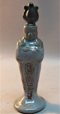 "Very Rare MARBLEHEAD ART POTTERY ""King Tut"" Perfume Bottle  c. 1925  antique"