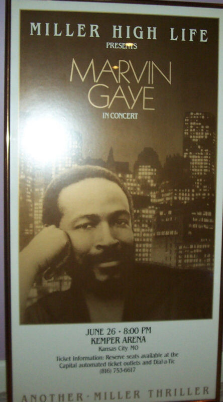 MARVIN GAYE MOTOWN VINTAGE FINAL CONCERT TOUR BOXING PRINT POSTER  1983