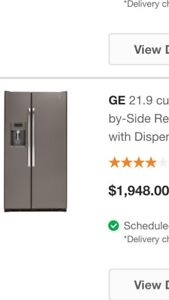 5 months old GE fridge and stove