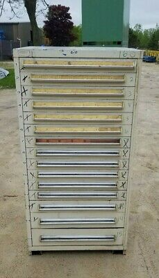 Stanley Vidmar 15 Drawer Industrial Tooling Cabinet Wdividers 30x30x60 Tall