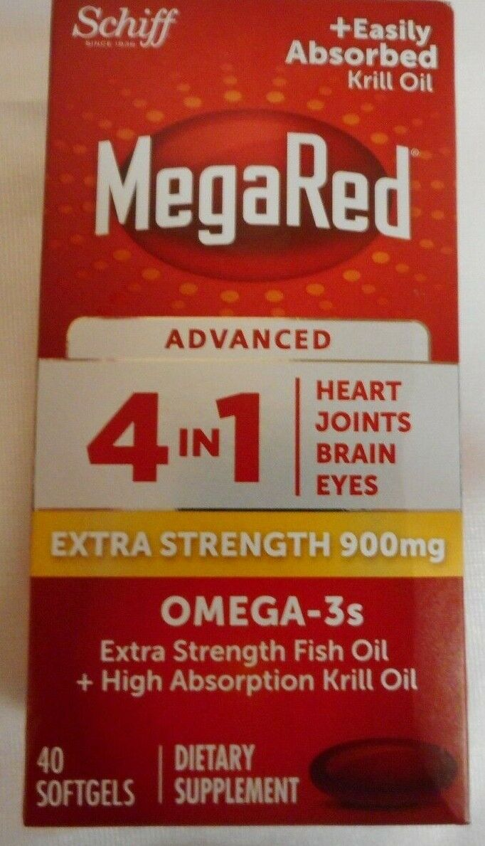 Megared Advanced 4in1 900mg Fish Oil+High Absorption Krill