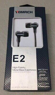 Vomach In-Ear Headphone Stereo Sound Treble Noise-Isolating Microphone READ Sound Isolating Stereo
