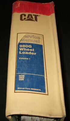 Cat Caterpillar 980g Wheel Loader Service Shop Repair Book Manual Vol I