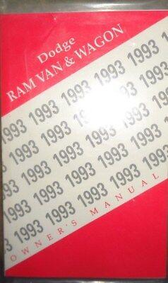 1993 Dodge Ram Van Wagon Owners Manual