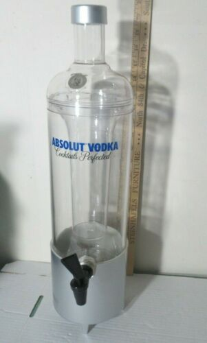 Absolut Vodka 20 inch tower/dispenser NEW Man Cave