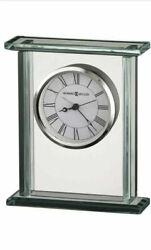 Howard Miller Cooper 645-643 Glass & Chrome Desk/Table Alarm Clock
