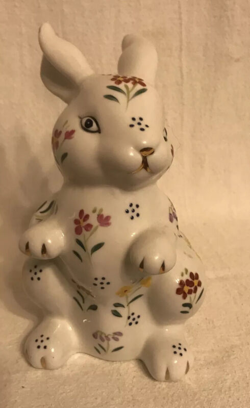 Formalities by Baum Bros. Floral and White Porcelain Rabbit