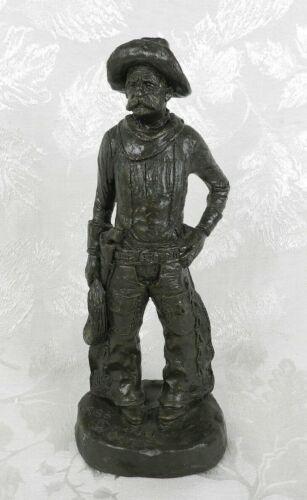 "Vtg 1986 Michael Garman Sculpture Statue ""Rounder"" Cowboy Signed Western America"