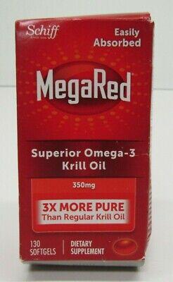 Schiff MegaRed Superior Omega-3 Krill Oil - 350mg - 130 Softgels