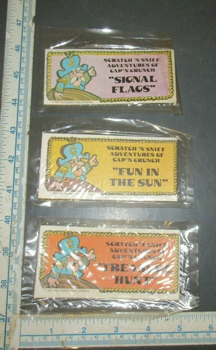 VINTAGE CAPTAIN CAP'T CRUNCH CEREAL PREMIUM SCRATCH & SNIFF BOOKLETS