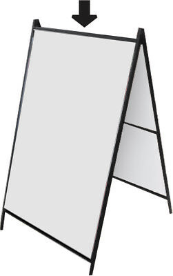 Metal A Frame 24 X 36 Sidewalk Sign Holder Outdoorindoor Heavy Duty