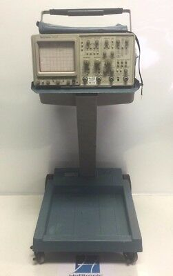 Tektronix 2465a 350mhz Analog Oscilloscopes W K212 Portable Cart