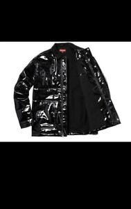 Supreme authentic jacket vinyl quilted Large