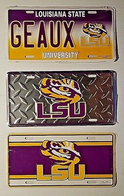 LSU Louisiana State University Metal Car Tag Truck Auto License Plate (State Metal License Plate)