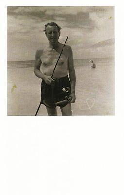 "Postcard Francis Goodman ""Ian Fleming"" 1964 Nat'l Portrait Gallery UK MNT"