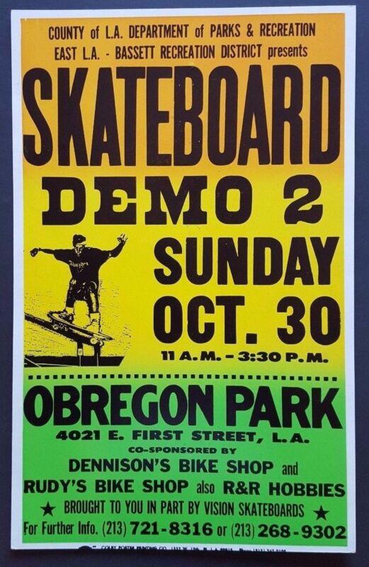 SKATEBOARD DEMO 2 E Los Angeles ORIGINAL Vintage Promo Poster THRASHER Tony Hawk