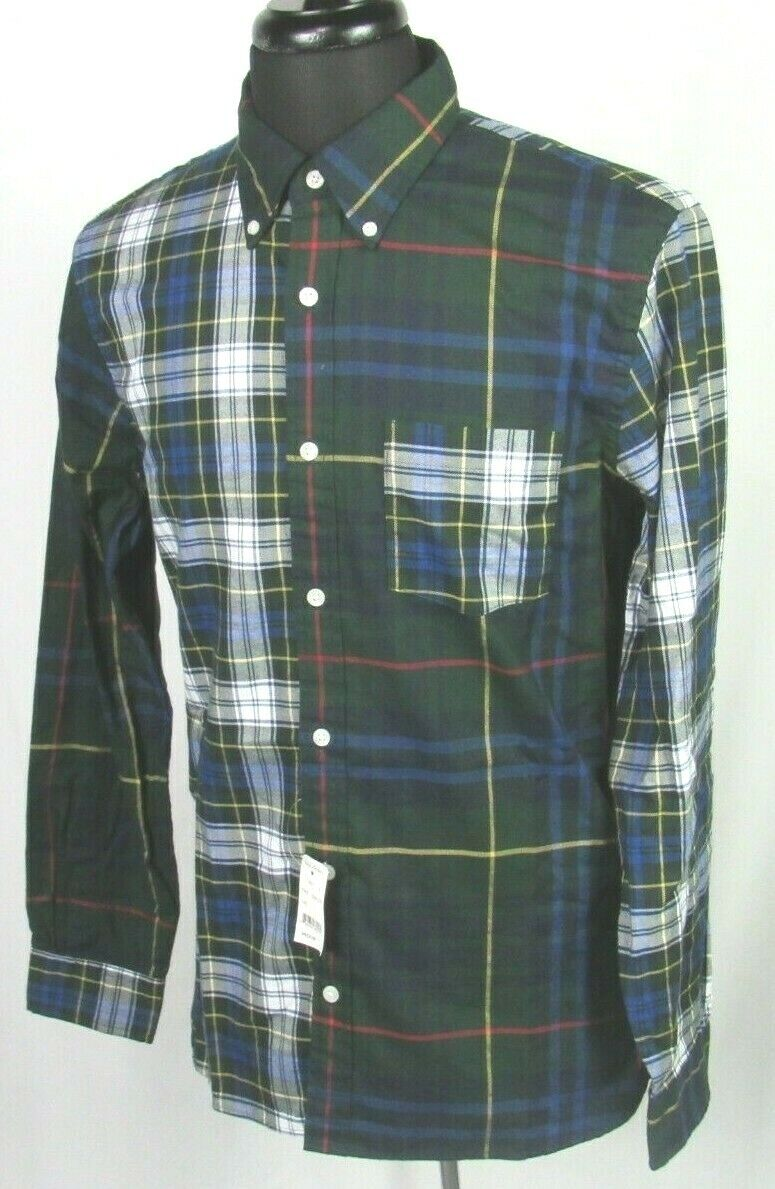 NEW! Men's Brooks Brothers Red Fleece Light Flannel Plaid Bu