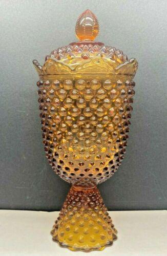 Vintage 1964-70 Fenton 3639 CA Colonial Amber Apothecary Jar