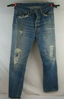 VTG Levis 501 Big E Selvedge Denim Jeans 60's Original Barn Find RARE 31-32 28