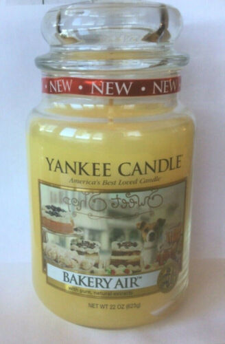 YANKEE CANDLE BAKERY AIR 22 OZ JAR CANDLE CLASSIC WHITE LABEL RETIRED NEW