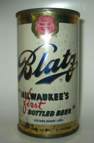 """Old BLATZ """"1st Bottle Beer"""" FLAT TOP BEER CAN Milwaukee, Wisconsin"""