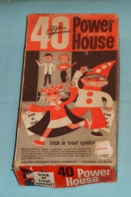 vintage original Walter Johnson's POWER HOUSE HALLOWEEN CANDY BOX (only)