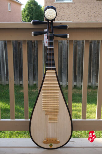 DUNHUANG Pipa, Chinese Lute - Professional Rosewood Pipa With Case - 敦煌專業花梨木琵琶