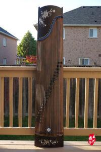 Chinese Guzheng, Chinese Zither Harp, Koto, 樂海古箏富貴牡丹 -- 古筝