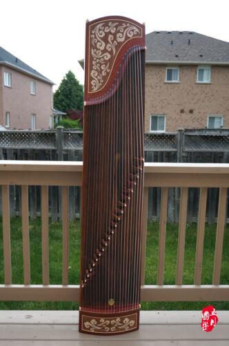 Dunhuang Guzheng, Chinese Zither Harp, 敦煌特氏古夷蘇木古箏 -- 祥雲