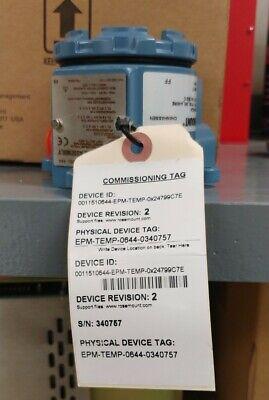 Rosemount 644hfe5j6 Temperature Transmitter -20 To 100 Deg C 4-wire Rtd