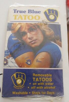 Milwaukee Brewers vintage Tatoos NEW IN PACKAGE Tattoos