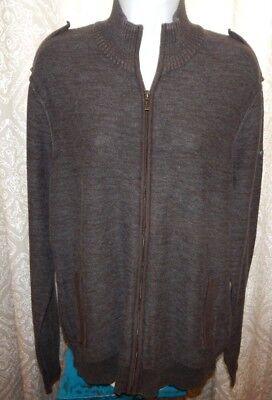 - DKNY JEANS Dark Gray Heather Cotton LS Zip Sweater / Sweatshirt Men's Medium