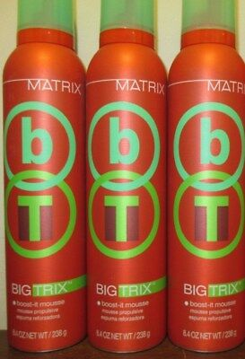 Lot of 3 Matrix Big Trix Boost-It Mousse 8.4 oz each