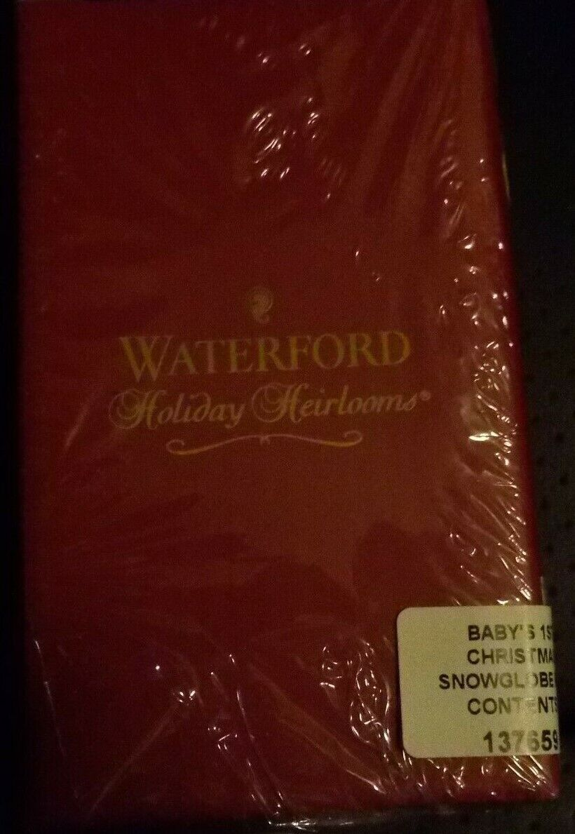 WATERFORD HOLIDAY HEIRLOOMS BABY S 1ST CHRISTMAS SNOWGLOBE BOY BRAND NEW IN BOX - $14.99