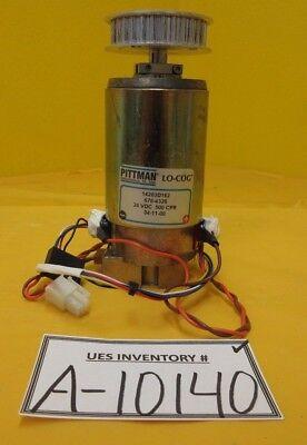 Pittman 14203d162 24v Servo Motor 676-4326 Lo-cog With Gear Head Used Working