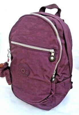 KIPLING BASIC CLAS CHALLENGER DARK AUBURN PURPLE BACKPACK RUCKSACK SCHOOL BAG