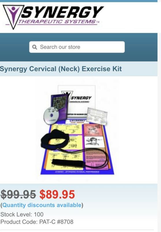 Synergy Cervical (Neck) Exercise Kit, With Instructional Poster, 7083 CCORD-RED