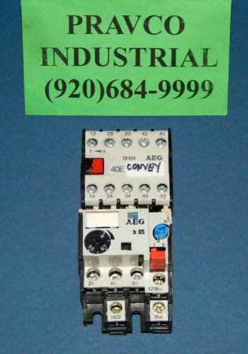 AEG B-05 Overload Relay with SH04-40E Relay 600VAC B05 SH0440E