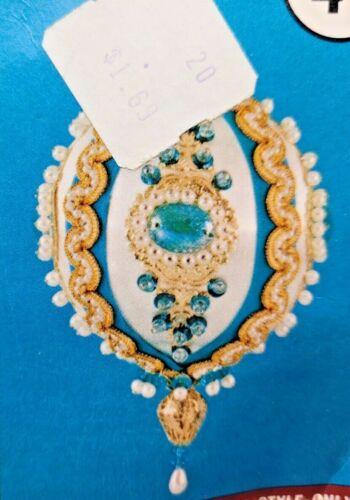 Walco PEACOCK SATIN BEAUTY Vintage Sequin Bead Christmas Ornament Kit 1974 NOS