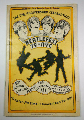 Beatlefest 79 NYC 5th Annual Official Beatle Fan Convention 1979 Americana Hotel