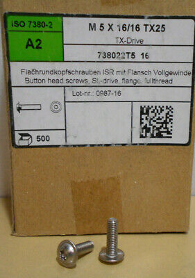 Lot Of 500 Torx Screws Machine Stainless Steel M5-0.8 X 16mm