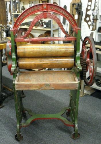 Antique Original Cast Iron Mangle Clothes wringer - Made in England