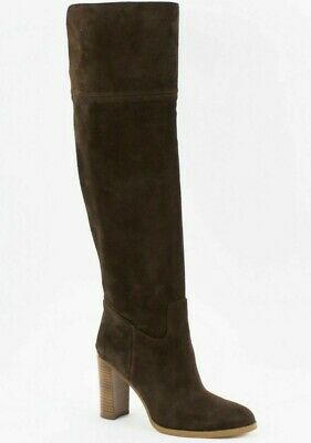 Michael Kors Regina Tall Boots Dark Brown Suede Women's US Size 8 M (Michael Kors Dark Brown Boots)